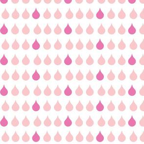 Raindrops - pink berry
