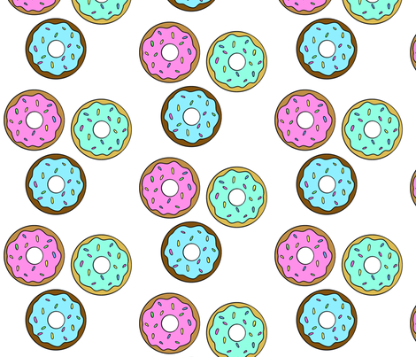 Super Sweet Donuts fabric by cozyreverie on Spoonflower - custom fabric