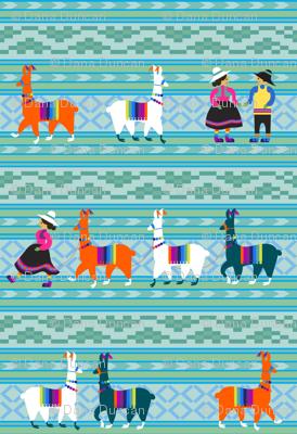 Peruvian Llama Blanket