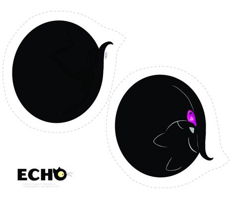 Echo Sleeping fabric by celestegs on Spoonflower - custom fabric