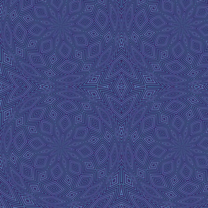 Purple Blue Circle Diamonds Kaleidoscope tell3people