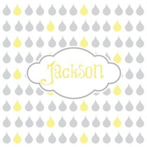 raindrops gray - personalized