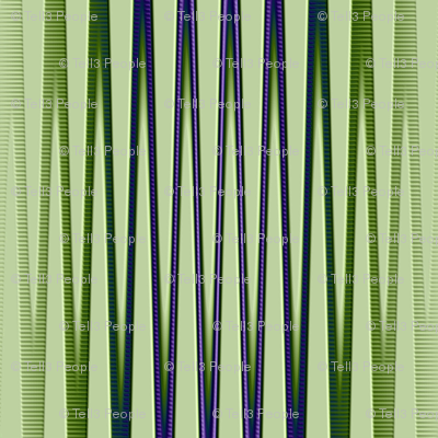 green purple blue vertical stripes tell3people