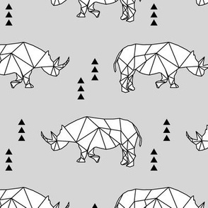 Geometric Rhino // fog