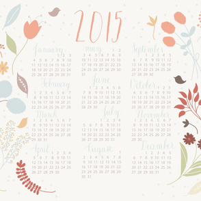 2015 Floral Tea Towel Calendar