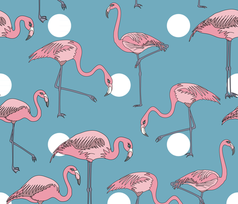 Flamingo Party fabric by coleheart on Spoonflower - custom fabric
