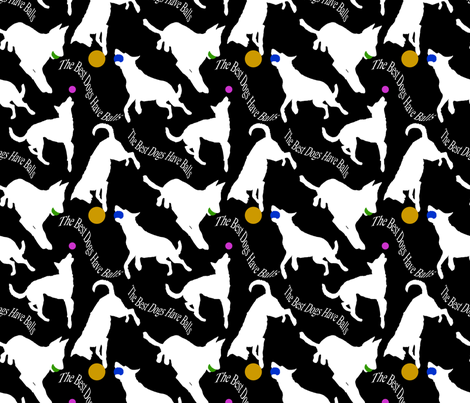 The best dogs have balls - black fabric by rusticcorgi on Spoonflower - custom fabric