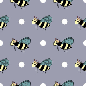 Queen Bee Lavender Polka