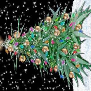 Cannabis Xmas Tree 2016 18x27