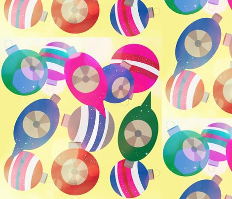 Vintage Glitter and Glow fabric by owlandchickadee on Spoonflower - custom fabric