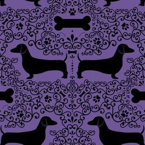Dainty Dachshunds (Purple)