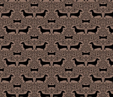 Doxie_damask_layout_brown_shop_preview