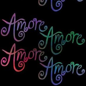 Amore - Rainbow on black