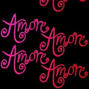 Amore - Pinks on black