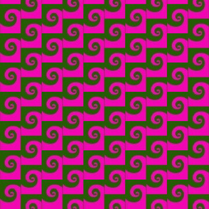 Waves Pink Green