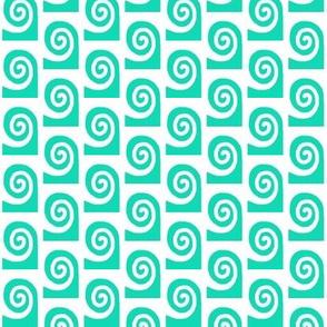 Waves Aqua White Large