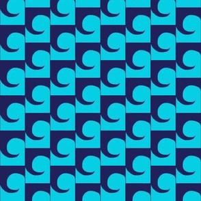 Waves Aqua Blue