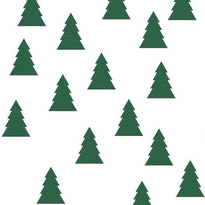 Christmas trees in green and teal - random