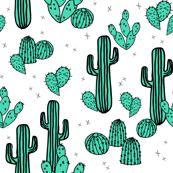 cactus // cacti summer tropical print kids southwest plants
