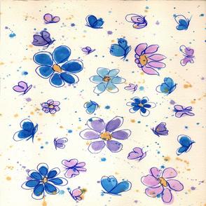 Daisies & Butterflies