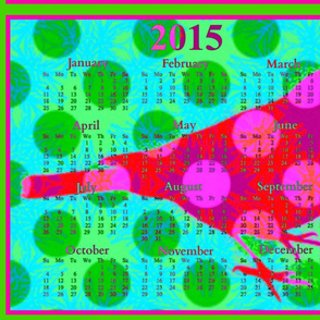 2015 Calendars - Birdsongs 1: Happy New Year Bird 2