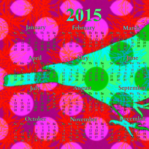 2015 Calendar -  Happy New Year Bird