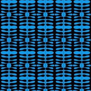 Woven Blanket Blue Black
