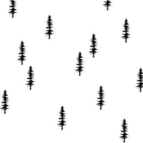 tree silhouette black & white