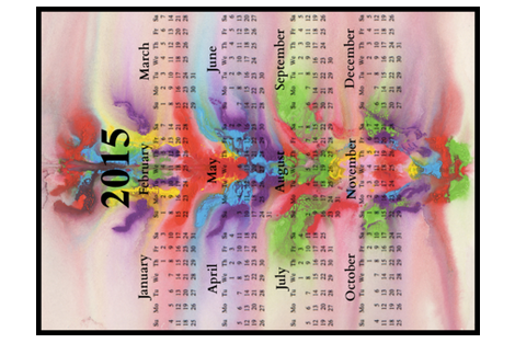 2015 Calendars - In The Flow, Chakra Dance fabric by dovetail_designs on Spoonflower - custom fabric