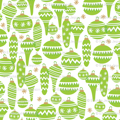 Jolly Ornaments (Green)