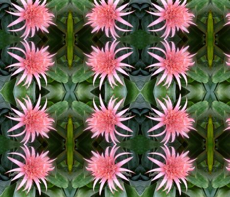 Pink spiky flower fabric kjsmom spoonflower pink spiky flower fabric by kjsmom on spoonflower custom fabric mightylinksfo