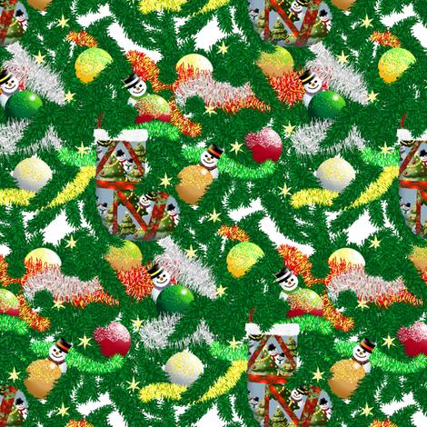 Christmas Sparklies  fabric by house_of_heasman on Spoonflower - custom fabric
