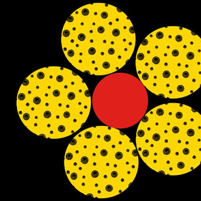 Then came the Dotty Yellow Flower (nighttime)
