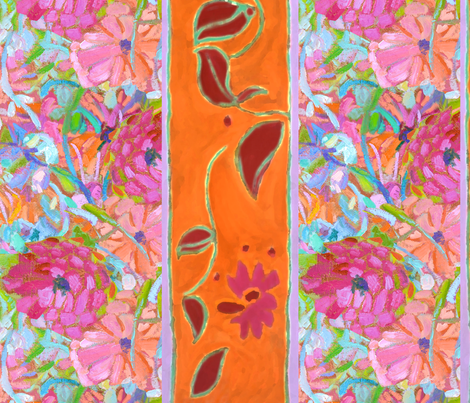 Wildflower Jewel Wide Strips Orange