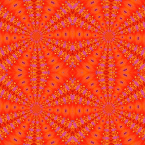 orange pink kaleidoscope tell3people