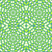 hawaii blue lime green white circles kaleidoscope tell3people