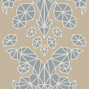 Geometric Brocade Soft Brown and Grey