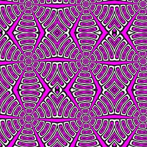 pink black white kaleidoscope circles tell3people