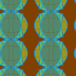 african tribal brown green blue circles tell3people