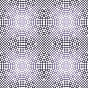 Purple White Check Circles tell3people
