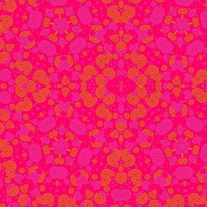 pink orange geometric pattern