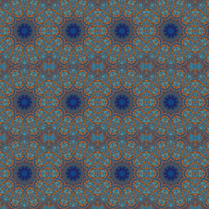 Copper Blue Circles