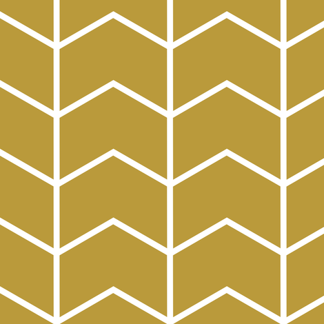 chevron // golden - Woodland Collection fabric by littlearrowdesign on Spoonflower - custom fabric