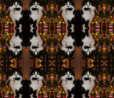 Christmas kitty  fabric by kjs_mom on Spoonflower - custom fabric