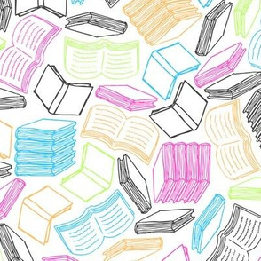 So Many Books (Pastel)