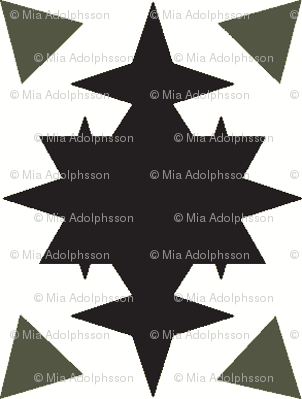 star and triangles black