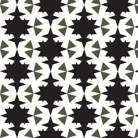 star and triangles black  fabric by miamea on Spoonflower - custom fabric