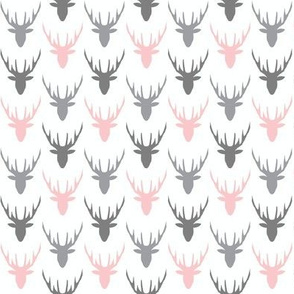 deer grey pink mini version