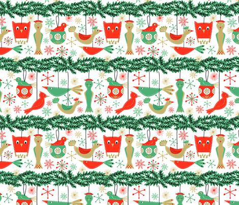 Felt Birds White Version fabric by vinpauld on Spoonflower - custom fabric