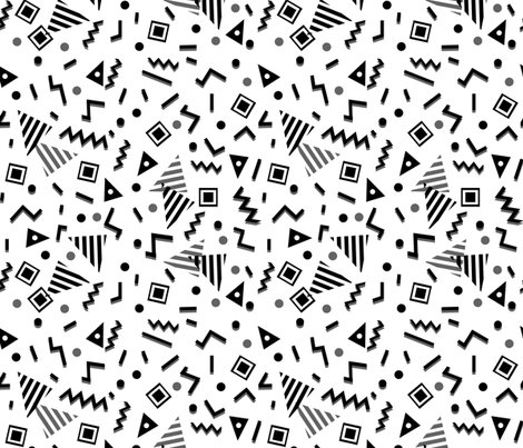 Zig zag trendy 80s 90s memphis black and white kids - Baby shapes black and white ...
